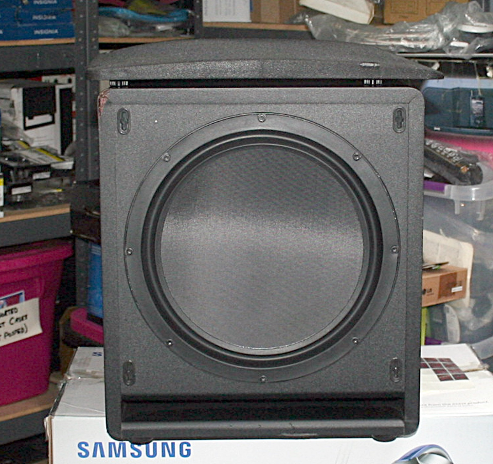klipsch sw 112 12 inch ported front firing powered subwoofer ebay. Black Bedroom Furniture Sets. Home Design Ideas